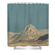 Mitre Peak Catching Some Rays Shower Curtain