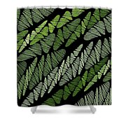 Mixed Assembly-green Shower Curtain