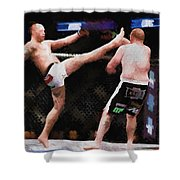 Mixed Martial Arts - A Kick To The Head Shower Curtain