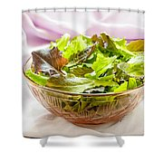 Mixed Salad On Table Shower Curtain