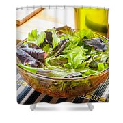 Mixed Salad With Condiments Shower Curtain