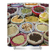 Mixed Spices In Market Of Cairo Egypt Shower Curtain