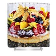 Mixed Tropical Fruit Tart Shower Curtain
