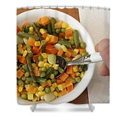 Mixed Vegetables Meal Shower Curtain