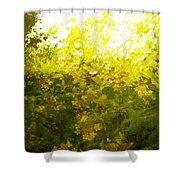 Painted Garden  Shower Curtain