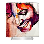 Mj Impression Shower Curtain by Molly Picklesimer