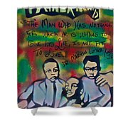 Mlk Fatherhood 1  Shower Curtain