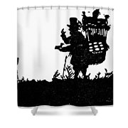 M�ller The Bird Seller Shower Curtain