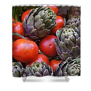 Articholes And Tomatoes Shower Curtain