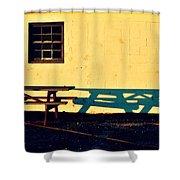 Mo Beach Sunset Shower Curtain