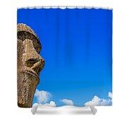 Moai And Blue Sky Shower Curtain