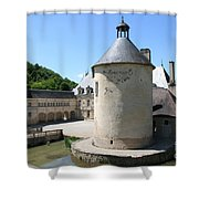 Moated Castle - Bussy Rabutin - Burgundy Shower Curtain