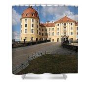 Moated Castle Moritzburg Shower Curtain