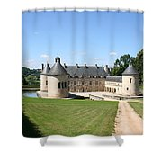 Moated Palace - Bussy-rabutin Shower Curtain