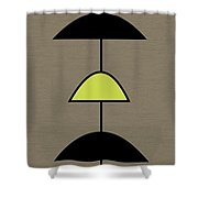 Mobile 2 In Green Shower Curtain