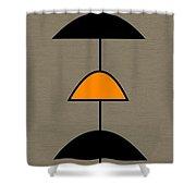 Mobile 2 In Orange Shower Curtain