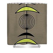 Mobile 3 In Green Shower Curtain