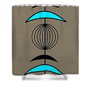 Mobile 3 In Turquoise Shower Curtain