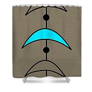 Mobile 4 In Turquoise Shower Curtain