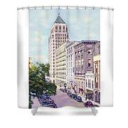 Mobile Alabama - North On St. Joseph Street - Merchants National Bank - 1937 Shower Curtain