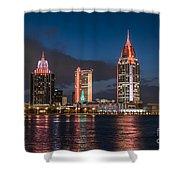 Mobile Alabama Skyline Shower Curtain