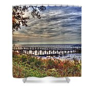 Mobile Bay Sunset Shower Curtain