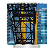 Mobile Crane Section Shower Curtain