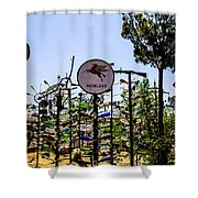 Mobilgas Shower Curtain