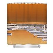 Mocha Dock Shower Curtain