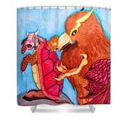 Mock Turtle And Griffon Shower Curtain