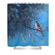 Mockingbird Happiness Shower Curtain