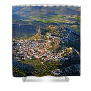 Moclin Castle From The Air Shower Curtain