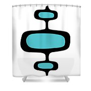 Mod Pod One Black On White Shower Curtain