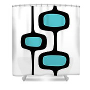 Mod Pod Two Black On White Shower Curtain