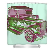 Model A Ford Pickup Hotrod. Shower Curtain