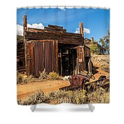 Model A Truck With Garage And House Shower Curtain
