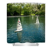 Model Boats On Conservatory Water Central Park Shower Curtain