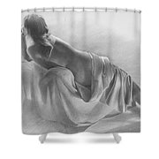 Model In Drapery 2003  Shower Curtain