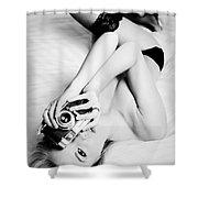 Model Photographer Shower Curtain
