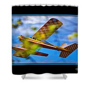 Model Plane 2 Shower Curtain