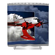 Model Planes Dc3 01 Shower Curtain