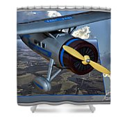 Model Planes Top Wing 04 Shower Curtain
