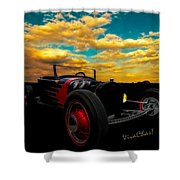 Model T Rat Rod Ride Cruisin Out At Sunset Shower Curtain