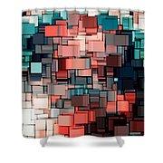 Modern Abstract Ix Shower Curtain