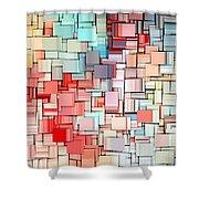 Modern Abstract X Shower Curtain