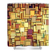 Modern Abstract Xxi Shower Curtain