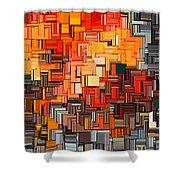Modern Abstract Xxxiv Shower Curtain