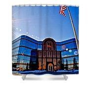 Modern Architecture Shower Curtain