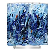 Modern Art Eleven Shower Curtain