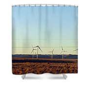 Modern Blinding Power A Shower Curtain